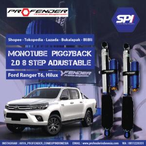 Monotube Piggyback 2.0 ( Ford Ranger T6 - Hilux )